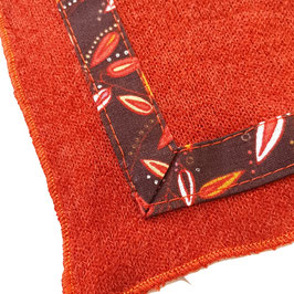 Poncho Terracotta Feuillage rouge