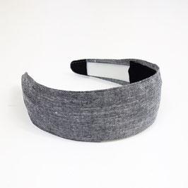 Serre tête bandeau chambray gris
