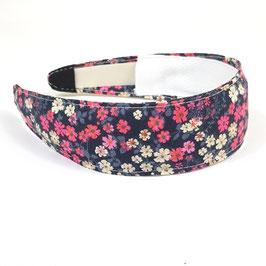Serre tête bandeau bouquet champêtre rose