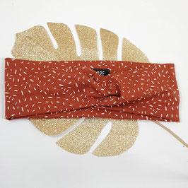 Headband Twist jersey Confettis terracotta