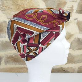 Turban PLN wax Bordeaux