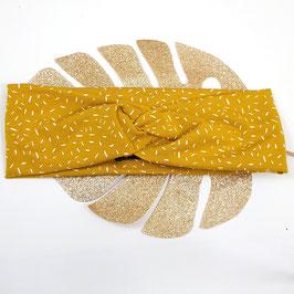 Headband Twist jersey Confettis moutarde