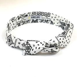 Headband Bandana Blanc
