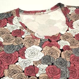 Body manche longue Bouquet de roses