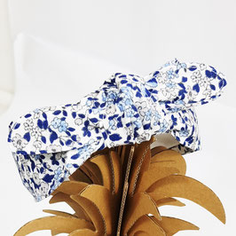 Serre tête Fleuris bleus
