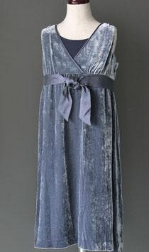 JJ-002G ベルベット ドレス グレー