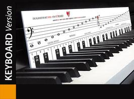 Klaviatur mit Herz - für Keyboard