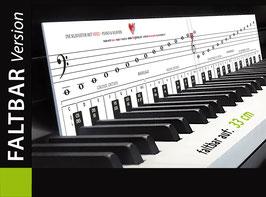 Klaviatur mit Herz - faltbar