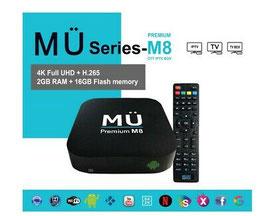 MÜ8 Media Player - 4K Full UHD - 12 months streaming service