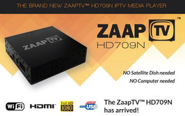 ZaapTV™ HD 709N - 12 months streaming service