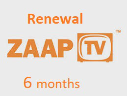 6 months ZAAPTV subscription Greek package