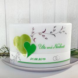Hochzeitskerze Elena in grün