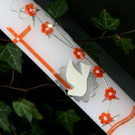 Taufkerze mit Blumenranke, Art. 01.183