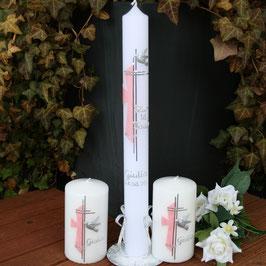 Taufkerze Giulia mit Kreuz, Art. 01.186