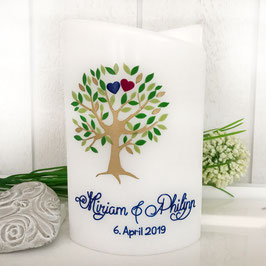 Hochzeitskerze Mirjam mit Baum