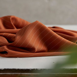 meet MILK, Tencel Pin Stripe twill, spice
