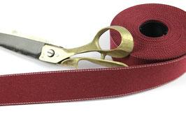 Gurtband mit Seitennaht, dunkelrot, 4cm breit