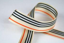 Dekoborte beige-dunkelblau-orange