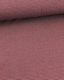 Jacquard-Strick dunkelrot mit weißen punkten