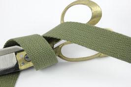 Baumwoll-Gurtband oliv, 3cm