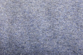 Bündchen melange dunkelblau, Schlauchware