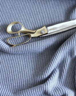 Baumwoll-Grobstrick graublau