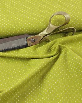 Cotton+Steel, Basic kiwi mit weißen Punkten