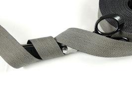 Gurtband Fischgrät schwarzgrau, 4cm breit