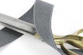 Gurtband mit Seitennaht, dunkelgrau, 4cm breit