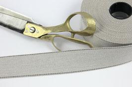 Gurtband mit Seitennaht, hellgrau, 4cm breit