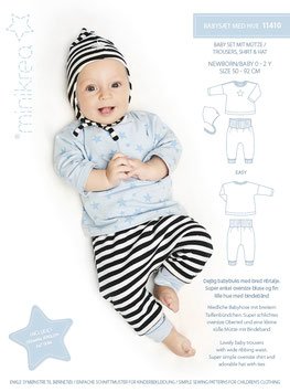Minikrea 11410 Babyset mit Mütze