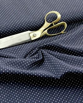 Cotton+Steel, Basic dunkelblau mit weißen Punkten