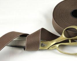 Gurtband mit Seitennaht, mokka, 4cm breit