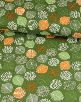 Canvas Cosmo mit Blätter grün