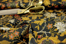 Baumwollprint, elastisch Golden Flower