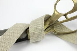 Baumwoll-Gurtband beige, 4cm