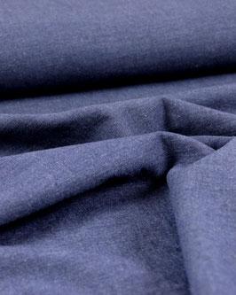 Feines Leinen-Viskosegemisch, mit Elasthan, jeansblau
