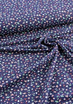 Jersey Blossom, Millefleur dunkelblau