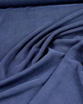 Viskose-Polo-Jersey dunkelblau