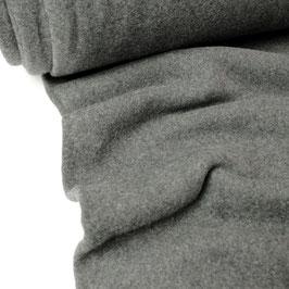 Bio-Baumwoll-Fleece melange, anthrazit