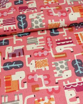 Canvas Cotton+Steel Elephants pink