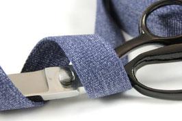 Gurtband blau meliert , 3cm breit