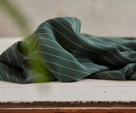meet MILK, Tencel Pin Stripe Pique, deep green