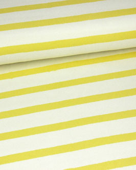 Baumwolljersey Stripes sunshine yellow