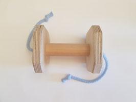 Holz Apportel mit Schnur - 10 x 10 cm, Steg 10 x 3 cm, ca. 290 g