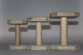 Holz Apportel - 6 x 6 cm, Steg 7 x 2 cm, ca. 90 g