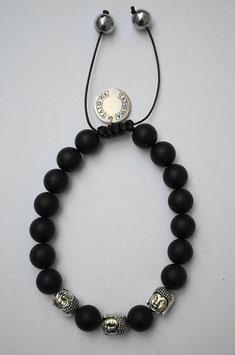 Black Buddha/silber