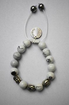 White Buddha / silber
