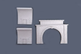 Tunnelportal mit 2 Tunnelinnenwänden  SET