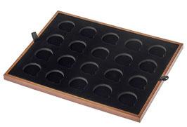 Einlage für 33 mm x 20 gekapselte Goldmünzen